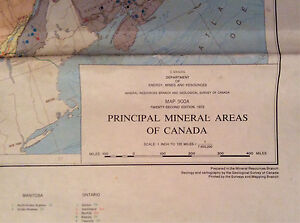Map of Canada's Mineral Areas London Ontario image 1