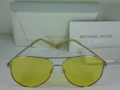 NEW AUTHENTIC Michael Kors MK 5016 101485 Silver Kendall Aviator Sunglasses NWT