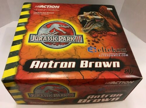 NEW ACTION COLLECTIBLES ANTRON BROWN 1:9 SCALE MOTORCYCLE JURASSIC PARK III