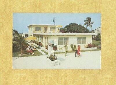 FL Fort Lauderdale 1956 postcard SEA BREEZE APARTMENTS 4309 Elmar Drive By sea
