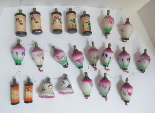 Set of 22 Antique Christmas Ornaments