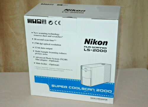 NIKON LS-2000 | SUPER COOLSCAN | Film / Slide SCANNER | w/ Film & Slide Adapters