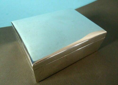 Ortega Sterling Silver Cigarette or Trinket Box, Wood Lined, 268 grams