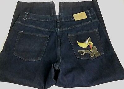 History Iceberg Daffy Duck Jeans Made in Italy 100% Cotton Looney Tunes 36x27.5