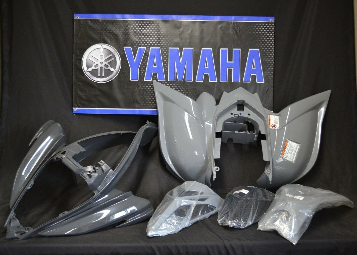 Raptor 700 plastics GENUINE YAMAHA fenders COMPLETE set 2006-2019 GRAY