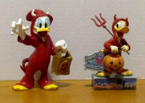"Donald Duck Disney Traditions ""Devilish Treat"" + Trick or Treat Donald Figurines"