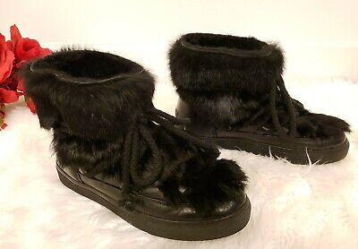 INUIKKI IKKII black Women's Snow Boots with furr EU size 40  US ~ 9 - 9.5