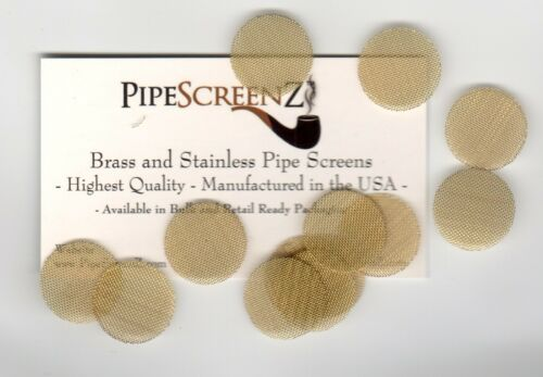 """100+ Count (3/4"""" .750"""" 19mm) Pipe Screens High End BRASS PipeScreenZ™ USA MADE!"""