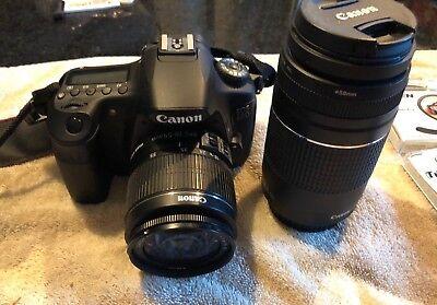 Canon EOS 60D 18-0MP Digital SLR Camera & 4 - Lens (18-55amp & 55-250amp)