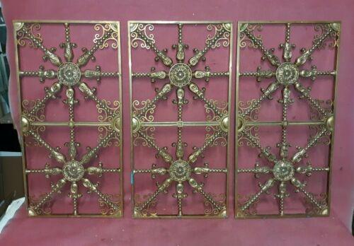Antique Architectural Bronze Window Cover or Grate 3 Pcs.