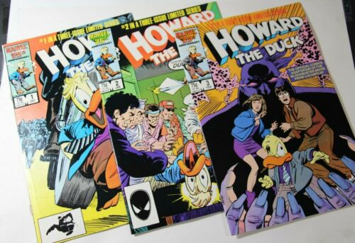 HOWARD THE DUCK: THE MOVIE #1 - #3 COMPLETE MINI-SERIES - 1987 MARVEL COMICS