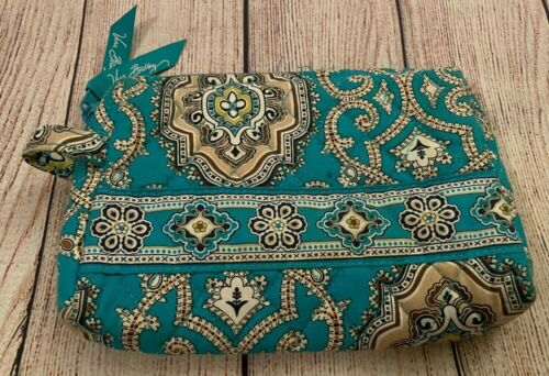 Vera Bradley Cosmetic Bag in Totally Turq - Make-up Case - Lined Interior - Blue
