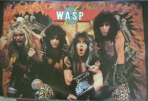 RARE WASP 1985 VINTAGE ORIGINAL  MUSIC POSTER