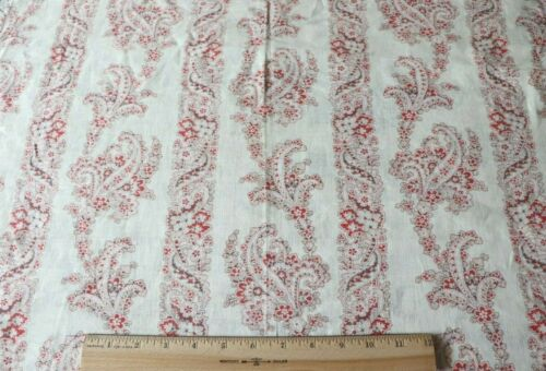 "Antique c1890 Printed Paisley Cashmere Wool Fabric~L-34""X W-26"""