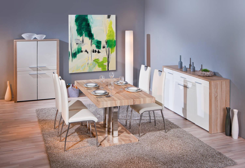 #127241 Table De Salle à Manger Moderne En Métal Chromé Décor  3727 salle a manger moderne en chene 1500x1025 px @ aertt.com