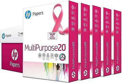 Hp Printer Paper 8.5x11 Multipurpose 20 Lb 5 Ream Case 2500 Sheets 96 Bright