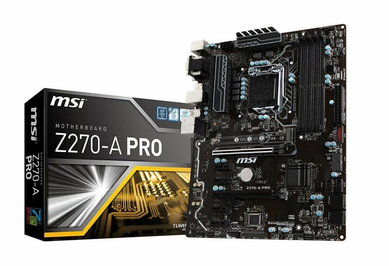 MSI LGA 1151 Intel Z270 SATA 6Gb/s USB 3.1 ATX Intel Motherboard Z270-A PRO