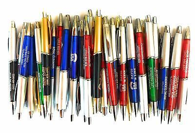 50 Wholesale Lot Misprint Ink Pens Ball Point Plastic Retractable New Free Shi