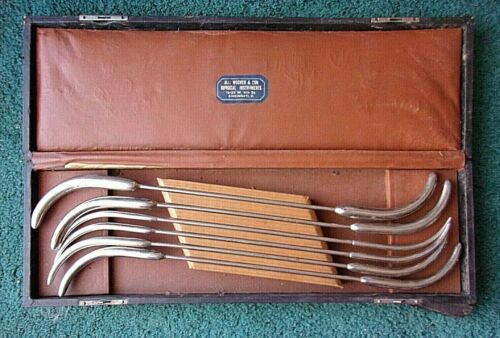 ANTIQUE CURVED SOUNDS Urethral Probes MAX WOCHER & SONS CINCINNATI, OH
