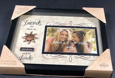 Picture Frame Hold 4x6 Photo Wall To Table Friends Are There In Sunshine & Shade