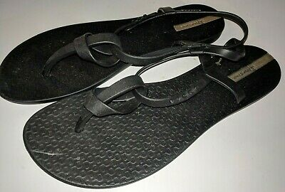 Ipanema Beach Thong Slingback Sandals - Women's Size 9 Black Size 9 / 40
