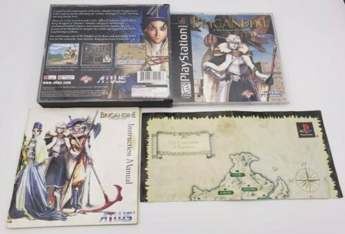 Brigandine The Legend of Forsena Case & Manual NO GAME DISC (Playstation PS1)