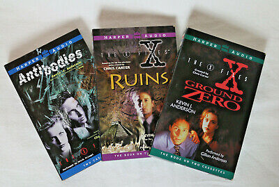 The X-Files Audio Collection Cassette Audiobooks Still Sealed 3 Books on Tape