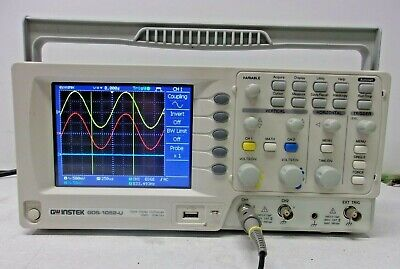 Gw Instek Gds-1052-u Digital Storage Oscilloscope 50 Mhz 2 Ch Color Usb Prob