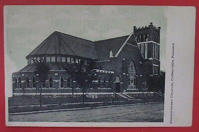 Antique Postcard Presbyterian Church Coffeyville Kansas
