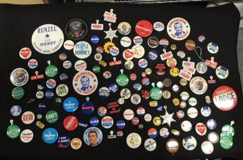 Political Assorted Vintage Campaign Pinback  Button Lot of 140pcs JH916