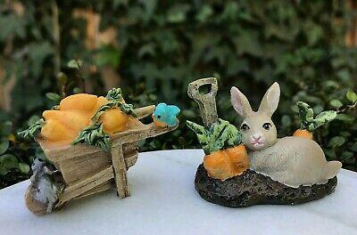 Mcgregors Garden - Miniature FAIRY Easter ~ Mini Peter Rabbit McGregor's GARDEN Cart & Carrots