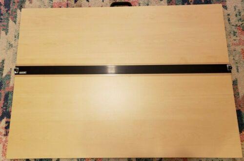 "MAYLINE Table Top Straight Edge Portable Drafting Table 42""x30"" - Handle + Legs"
