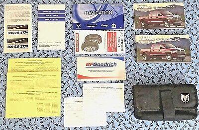 2007 DODGE RAM 2500 3500 OWNERS MANUAL w/ NAV BOOKS OEM 5.9L CUMMINS DIESEL 4X4