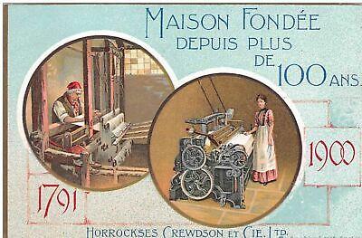 publicité  . n° 46443 . horrockses crewdson et cie.machine de tissage coton .ang