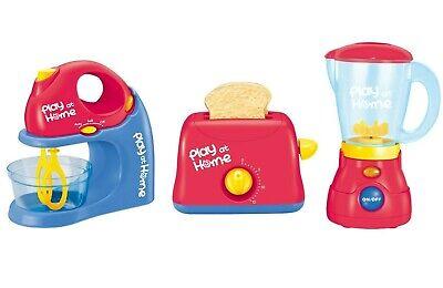 Pretend Play Kitchen Appliances, Blender, Mixer. Toaster, SET of 3 Combination -