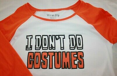 Top 15 Halloween Costumes (Junior XL 15/17 Whtie Orange I Don't Do Costume Halloween 3/4 Slv Baseball)