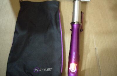 InStyler 32mm Purple Rotating Iron Straightener Curler Curling Tong c427