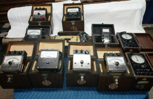 LOT of Vintage Weston Simpson Westinghouse HL&P Test meters Doble FT-2 Standard