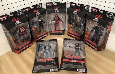 Deadpool Marvel Legends 7 Figure Set BAF SASQUATCH wave NEW Cable Domino X-23