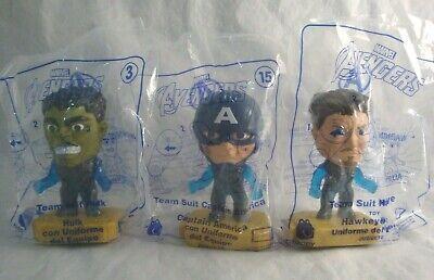 2019 McDonald's Avengers Captain America, Hulk, Hawkeye Team Suit Lot New - Captain America Suit Avengers