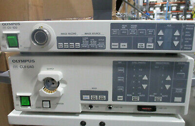 Olympus Cv-100 And Clv-u40 Endoscopy Tower