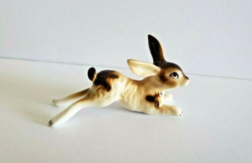 Vintage Leaping Laying Miniature Rabbit Bunny Figurine Animal Porcelain Vtg Hop
