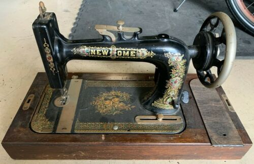 Antique New Home 1926 Treadle Sewing Machine w/Base