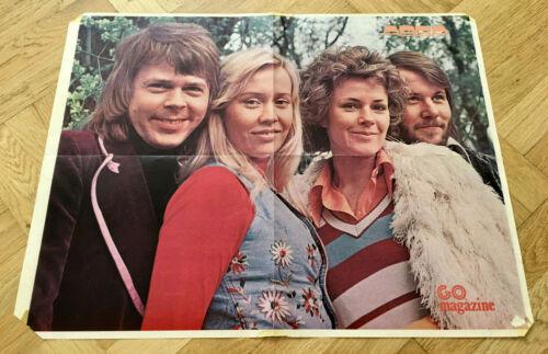 ABBA 1974 - Swedish Poster Magazine GO 1970s Vintage Mega Rare