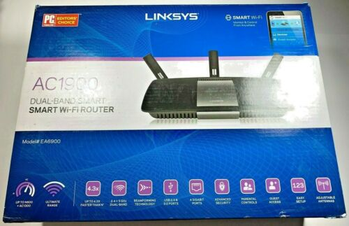 ⚡ Linksys EA6900 AC1900 V1.1 5Port Wireless Router WiFi Gaming 1300Mbps - NEW  ⚡