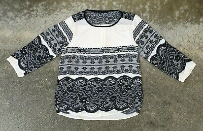 ZARA BASIC Women's Paisley Blouse Shirt Top | Large