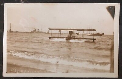 Mint USA Real Picture Postcard RPPC Flying Boat The Curtiss NC 3 Landing