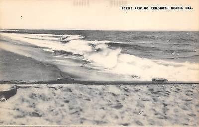 Scene Around Rehobeth Beach Delaware 1940s Postcard