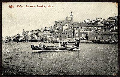 Palestine local boatmen of Jaffa vintage postcard