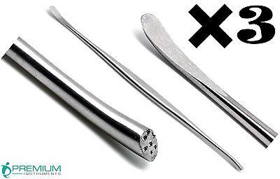 3 Pcs Surgical Penfield Dissectors 3 Neuro 19.8cm Spine Instruments